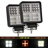 YUGUANG Pair 4' LED Square Bar 324W 22000LM 6000K...
